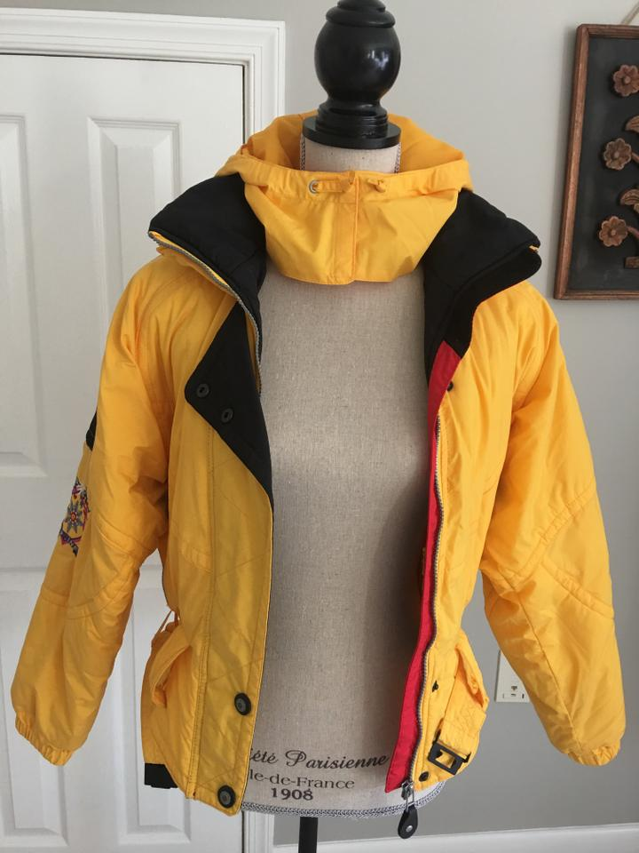 Obermeyer Yellow and Black Fitted Ski Activewear Outerwear Size 8 (M ... 83051e5e3