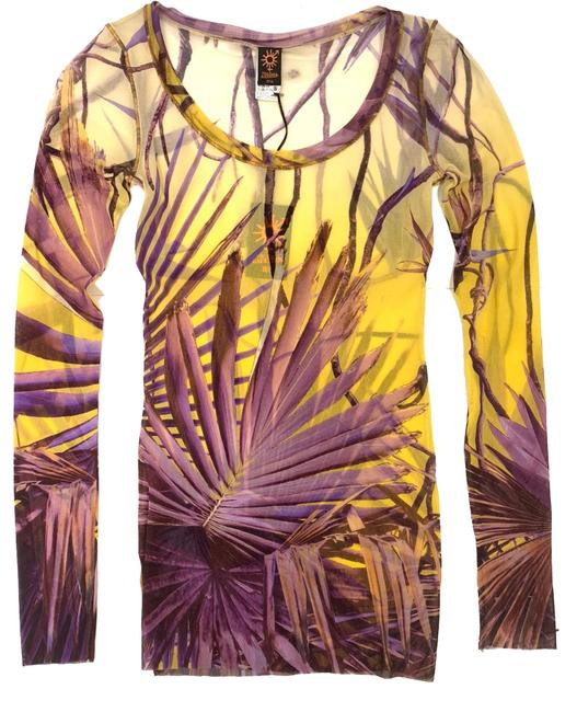 Preload https://img-static.tradesy.com/item/24146625/jean-paul-gaultier-yellowpurple-leaf-pattern-s-blouse-size-4-s-0-1-650-650.jpg