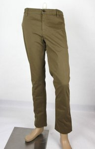 Gucci Barley Brown W Dyed Stretch Cotton Pant W/Logo 56r / Us 40 388946 2373 Groomsman Gift