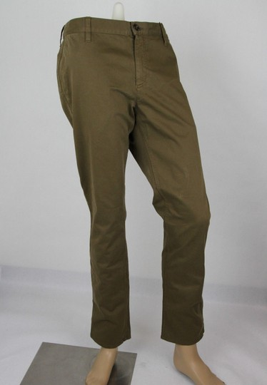 Gucci Barley Brown W Dyed Stretch Cotton Pant W/Logo 56r / Us 40 388946 2373 Groomsman Gift Image 1