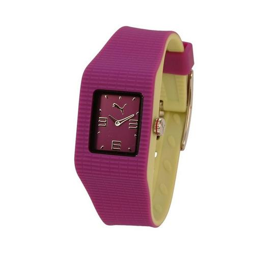 Puma PU202PR0036906 Women's Pink Leather Band With Pink Analog Dial Watch Image 2