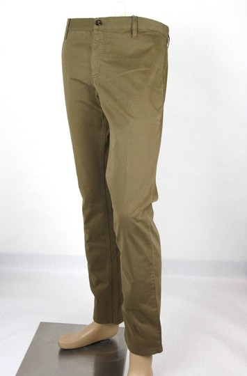 Gucci Barley Brown W Dyed Stretch Cotton Pant W/Logo 52r / Us 36 388946 2373 Groomsman Gift Image 2