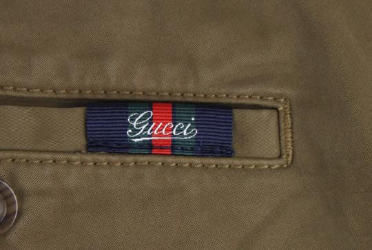 Gucci Barley Brown W Dyed Stretch Cotton Pant W/Logo 52r / Us 36 388946 2373 Groomsman Gift Image 8