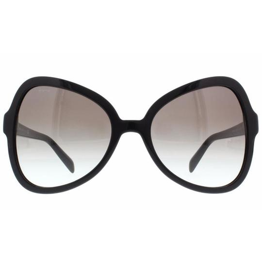 Prada Prada Black Women Butterfly Sunglasses Plastic Frame with Grey Lens Image 1