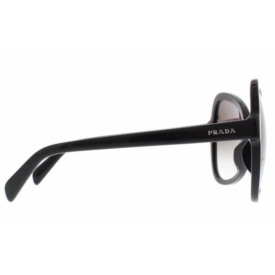 Prada Prada Black Women Butterfly Sunglasses Plastic Frame with Grey Lens Image 2