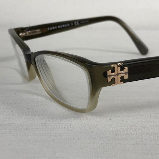 Tory Burch TORY BURCH Brown Green Small Eyeglasses Gold Medallion TY2003 Image 1