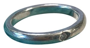 Tiffany & Co. Tiffany & Co. Elsa Peretti sterling silver stacking ring with diamond