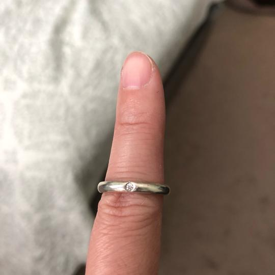 Tiffany & Co. Tiffany & Co. Elsa Peretti sterling silver stacking ring with diamond Image 1