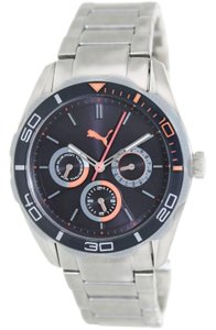 Puma PU103192005 Men's Silver Stainless Steel With Blue Analog Dial Watch