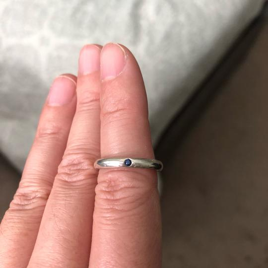Tiffany & Co. Tiffany & Co. Elsa Peretti sterling silver stacking ring with sapphire. Image 1