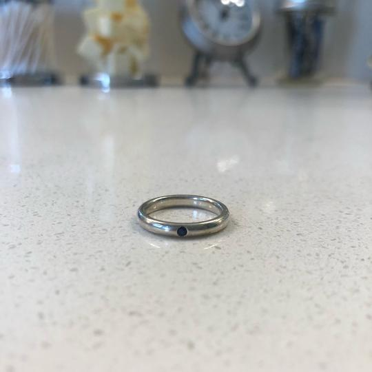 Tiffany & Co. Tiffany & Co. Elsa Peretti sterling silver stacking ring with sapphire. Image 2