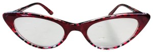 Unknown Red cat eye readers 1.75