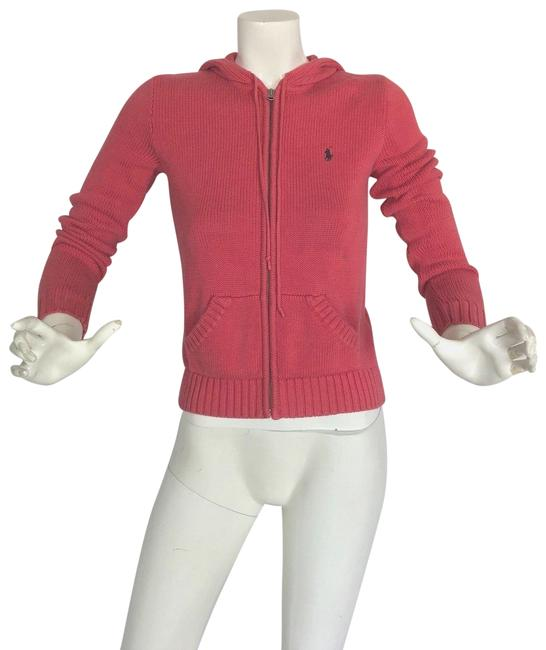 Preload https://img-static.tradesy.com/item/24146819/ralph-lauren-collection-pink-salmon-sweater-hooded-cotton-cardigan-size-4-s-0-1-650-650.jpg