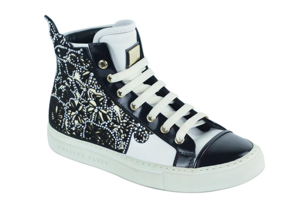 cfa455ec18 Philipp Plein White Womens Embellished Dalila High Top C2825 Sneakers
