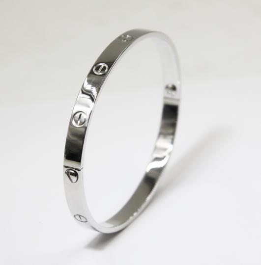 Cartier 18K White Gold LOVE Bracelet Image 1