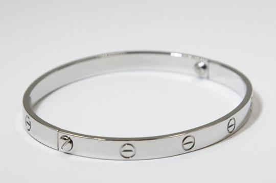 Cartier 18K White Gold LOVE Bracelet Image 2