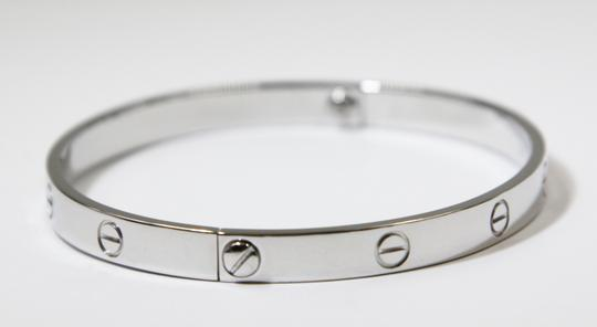 Cartier 18K White Gold LOVE Bracelet Image 3