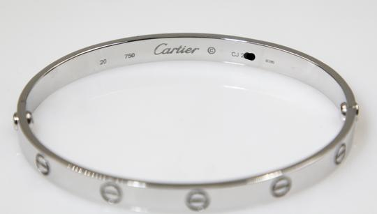Cartier 18K White Gold LOVE Bracelet Image 4