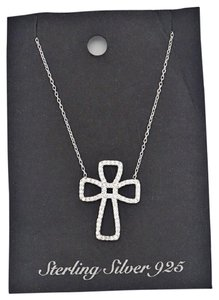 Other Sterling Silver 925 Cubic Cross Necklace