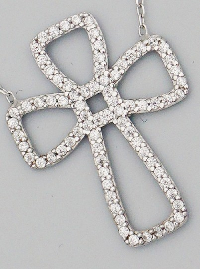 Other Sterling Silver 925 Cubic Cross Necklace Image 2