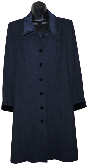 Kasper A.S.L Dress Lined Dryclean Only Buttoned Trench Coat Image 0