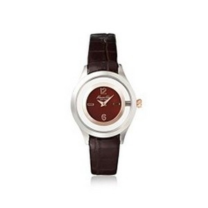 Kenneth Cole 10026941 Dress Womens Brown Leather Band With Brown Analog Dial Watch