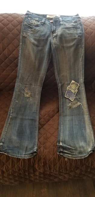 Levi's Vintage Distressed Embroidered Boot Cut Jeans-Medium Wash Image 1