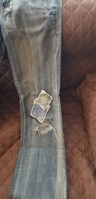 Levi's Vintage Distressed Embroidered Boot Cut Jeans-Medium Wash Image 2