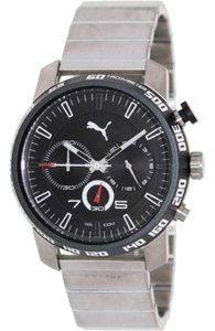 Puma PU103231002 Men Silver Stainless Steel Bracelet With Analog Dial Watch
