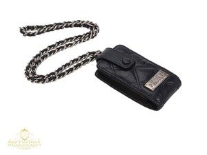 "Chanel Chanel Pouch Mini Bag Paris New York Leather Chain ""P.CC N.Y"" Necklace"