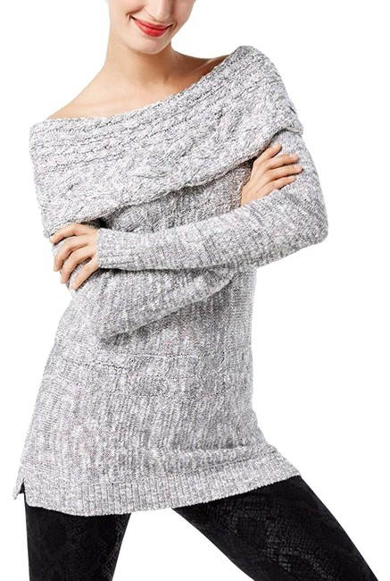 Preload https://img-static.tradesy.com/item/24146969/inc-international-concepts-off-the-shoulder-cable-knit-womens-xl-gray-sweater-0-1-650-650.jpg