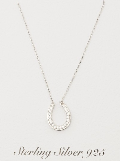 Other Sterling Silver 925 Horse Shoe Cz Pendant necklace Image 1
