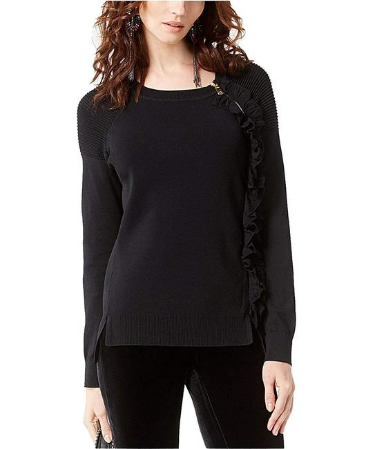 INC International Concepts Zip-detail Ruffle Sweater Image 1