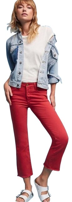 Item - Red Maroon Pilcro Capri/Cropped Jeans Size 4 (S, 27)