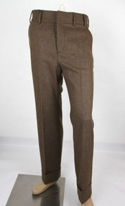 Gucci Heather Brown Stretch Flannel Pant It 48r / Us 32 398814 2571 Groomsman Gift