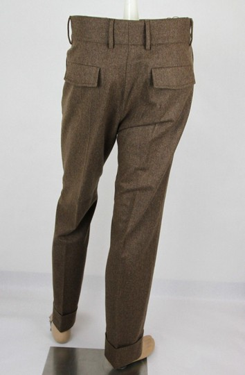 Gucci Heather Brown Stretch Flannel Pant It 48r / Us 32 398814 2571 Groomsman Gift Image 3