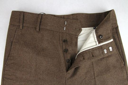 Gucci Heather Brown Stretch Flannel Pant It 48r / Us 32 398814 2571 Groomsman Gift Image 4