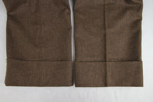 Gucci Heather Brown Stretch Flannel Pant It 48r / Us 32 398814 2571 Groomsman Gift Image 7