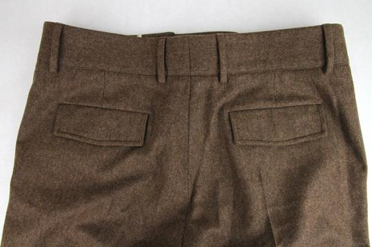 Gucci Heather Brown Stretch Flannel Pant It 48r / Us 32 398814 2571 Groomsman Gift Image 8