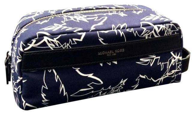 Item - Blue Grant Toiletry Holder Palm Print Travel Pouch Case Cosmetic Bag