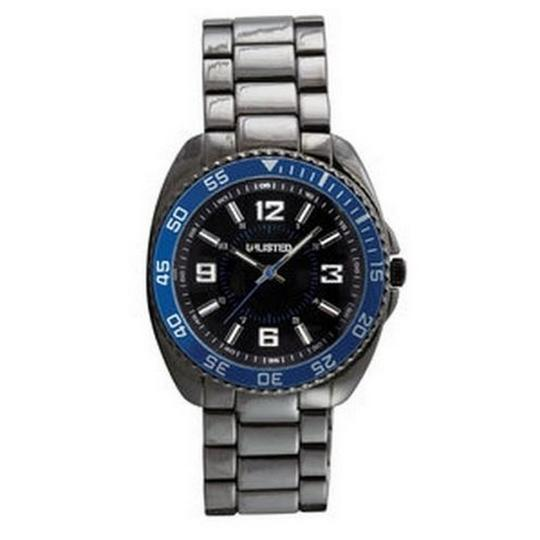 Unlisted by Kenneth Cole UL1164 Men's Silver Stainless Steel With Black Analog Dial Watch Image 1