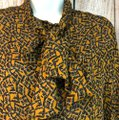 Eleanor P. Brenner Silk Top Brown Image 1