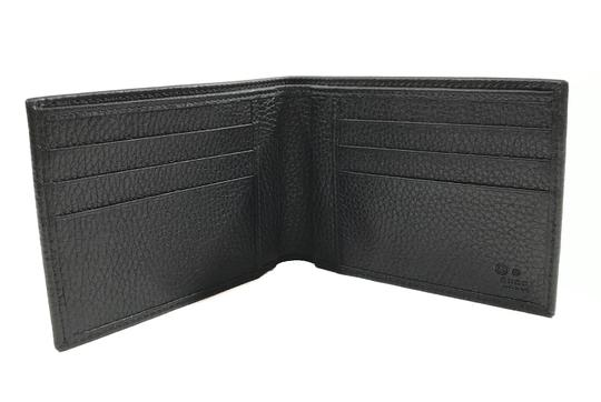 Gucci NEW GUCCI 278596 Men's Leather Bifold Wallet, Black Image 2