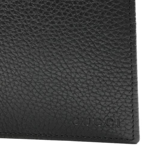 Gucci NEW GUCCI 278596 Men's Leather Bifold Wallet, Black Image 7