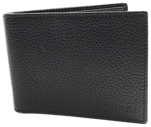 Gucci GUCCI 278596 Men's Leather Bifold Wallet, Black