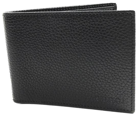 Gucci GUCCI 278596 Men's Leather Bifold Wallet, Black Image 0