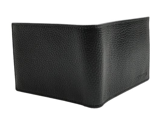 Gucci GUCCI 278596 Men's Leather Bifold Wallet, Black Image 3