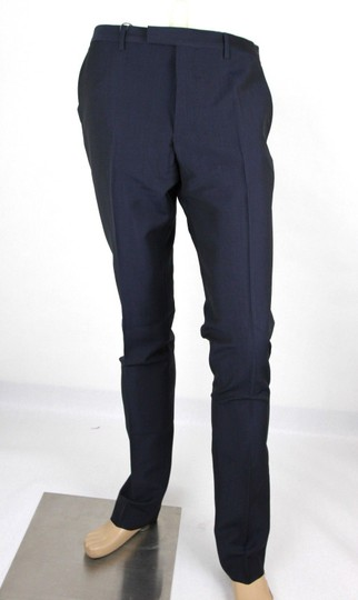 Gucci Navy Plain Weave Wool/Mohair Formal Pant It 58r / Us 42 335318 4379 Groomsman Gift Image 0