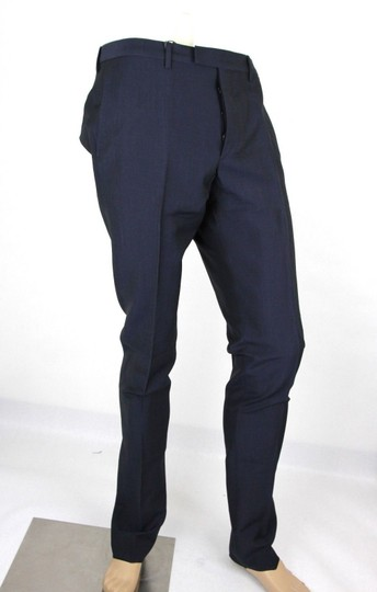 Gucci Navy Plain Weave Wool/Mohair Formal Pant It 58r / Us 42 335318 4379 Groomsman Gift Image 1
