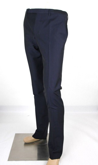Gucci Navy Plain Weave Wool/Mohair Formal Pant It 58r / Us 42 335318 4379 Groomsman Gift Image 2